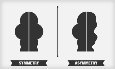 Here is a clear distinction between symmetric and asymmetric design