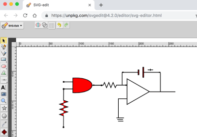 Electric diagram in SVG ready for animation.
