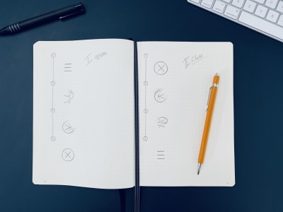 It's helpful to plan your animation ahead and start with a sketch