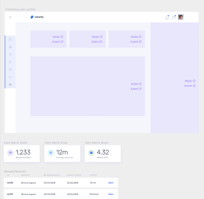 Magic Move components for the elements are in Interactive_user_profile frame.