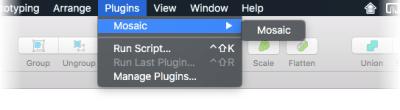 Image showing Mosaic menu item redundantly nested inside another menu named Mosaic