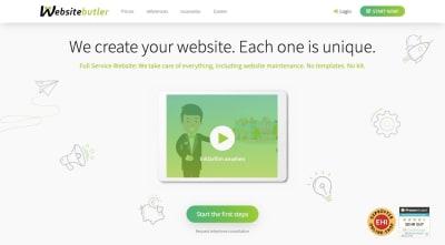 the website for the Websitebutler design agency