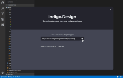 Indigo.Design Code Generator extension