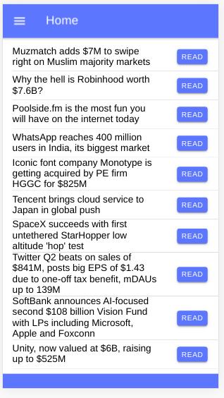 Ionic news app
