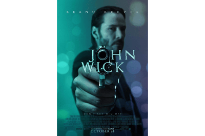 The John Wick movie poster typography has a unique edge