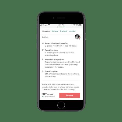 Airbnb breadcrumbs navigation