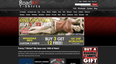 RoadKill T-Shirts website