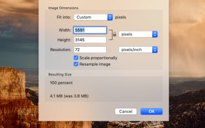 Original dimensions of image from Unsplash