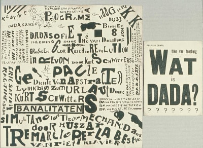 Dada print by Theo van Doesburg