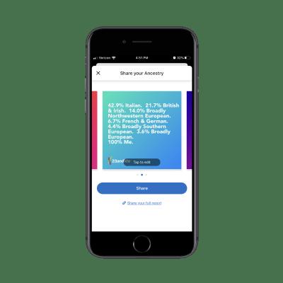 23andMe social sharing