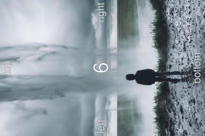 Portrait image shown in landscape mode