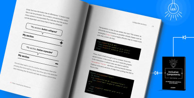 """Meet Inclusive Components, our new book for building accessible, inclusive interfaces. Written by one-and-only <a href='http://www.heydonworks.com/'>Heydon Pickering</a>."""">     </a><figcaption>Because accessibility matters. We've teamed up with one-and-only <a href="""