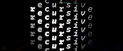 A screenshot of the Recursive font