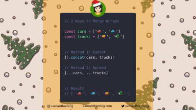 Code tidbit explaining how to merge arrays