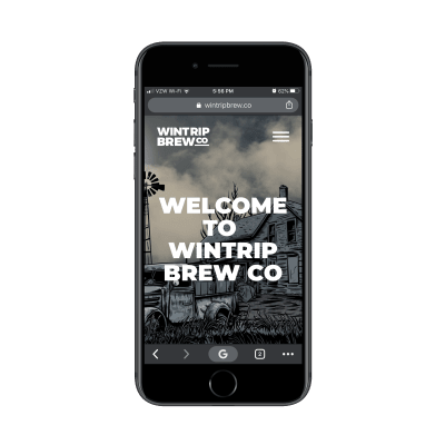 Wintrip Brew Co. mobile site
