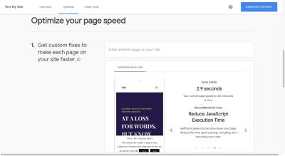 design-speed-test-my-site-score
