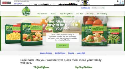 Green Giant website 2016