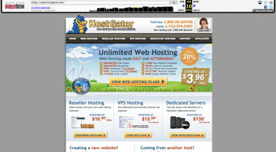 HostGator website 2012