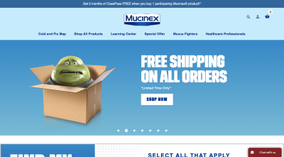 Mucinex website 2020 - Mr. Mucus nervous