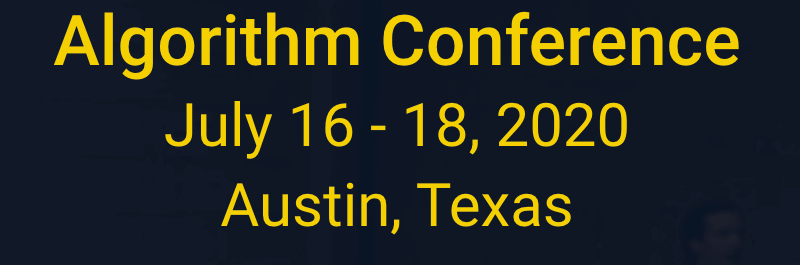Algorithm Conference 2020