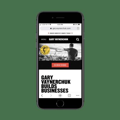 Gary Vaynerchuk mobile site