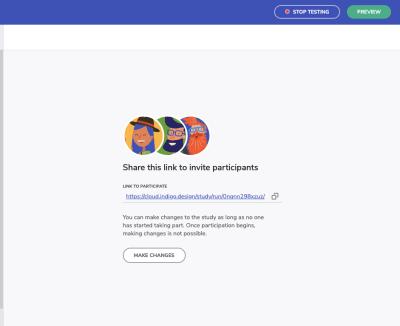 Indigo.Design usability test link