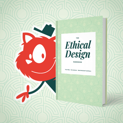 Topple the Cat presenting The Ethical Design Handbook book cover
