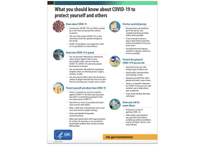 CDC created PSA – What you should know about COVID-19 to protect yourself and others