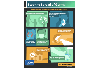 CDC created PSA – Stop the Spread of Germs