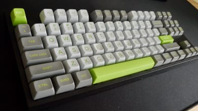 SA Profile Lime keycaps in ABS plastic by Signature Plastics