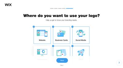 Wix Logo Maker questionnaire - logo placement