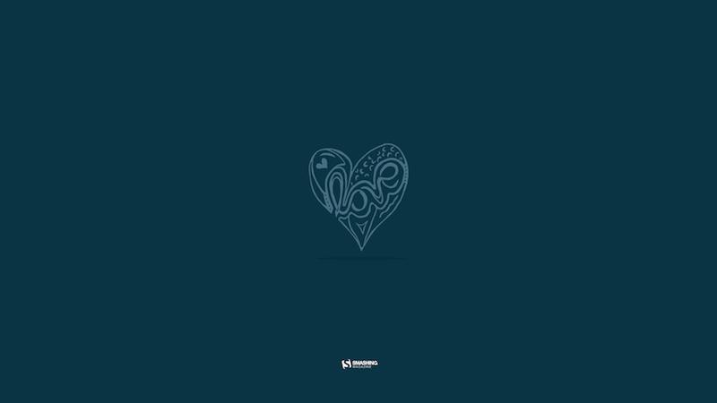 Digitalized Love Typography Sketch