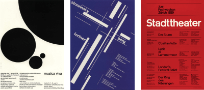 Three posters by Josef Muller-Brockmann