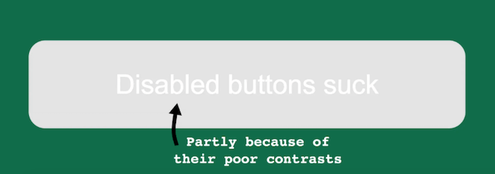 Disabled buttons suck