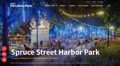Visit Philly website - page dedicated to Spruce Street Harbor Park with full-sized photo